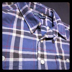 Polo Ralph Lauren Plaid Flannel Blue Classic XXL